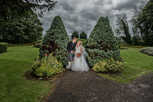Sarah & Dan at Maes Manor hotel Blackwood