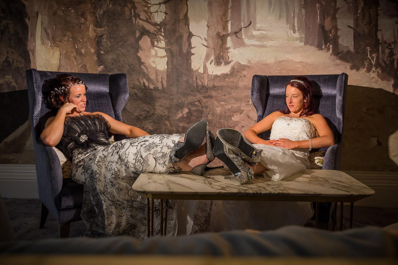 Hannah & Stephanie at Mercure Gloucester, Bowden Hall Hotel Wedding Photographer