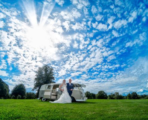 VW Camper Van St Pierre Marriott Chepstow Wedding